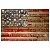 American Dream by Parvez Taj Painting Print on Natural Pine Wood -