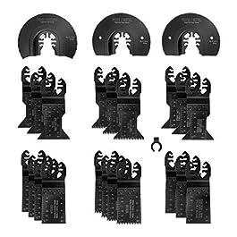 WORKPRO 23-Piece Metal/Wood Oscillating Saw Blades Set for Quick Release Multitool, Blades for Dewalt, Craftsman, Ridgid…