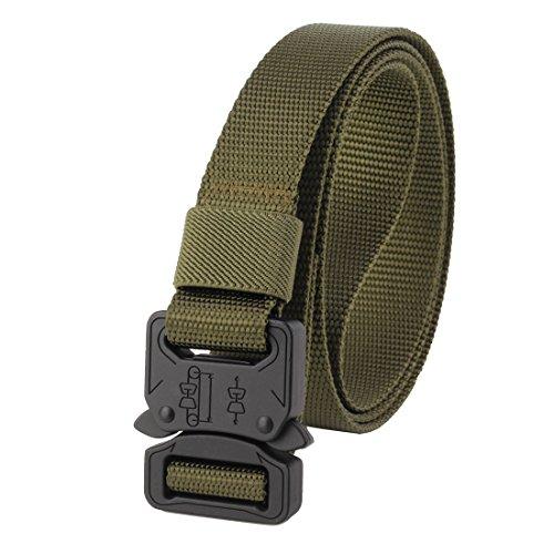 "GRULLIN Tactical Nylon Belt, CQB Riggers Waistbelt, 1"" Width"
