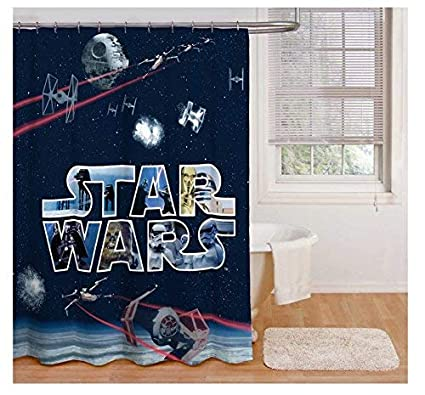 Image Unavailable Not Available For Color Franco Star Wars Shower Curtain