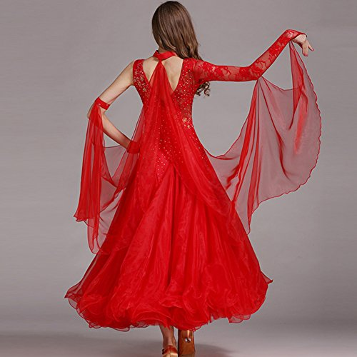 Utilisation Danse Robe Spandex Dentelle Femme Salon Tulle Q jiu 4 De Robes FqwBa4Y