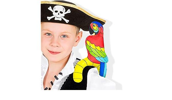 4 x loro hinchable loro pirata piratas-Parrot 28 x 16 cm de ...