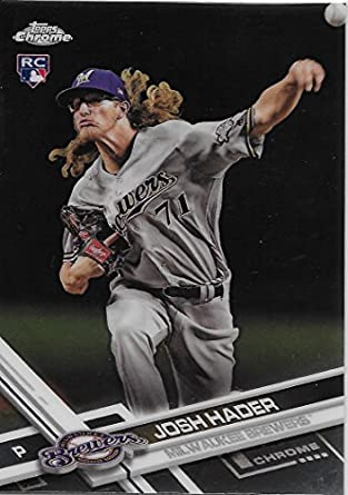 2017 Topps Chrome Update Hmt54 Josh Hader Milwaukee Brewers Rookie Baseball Card