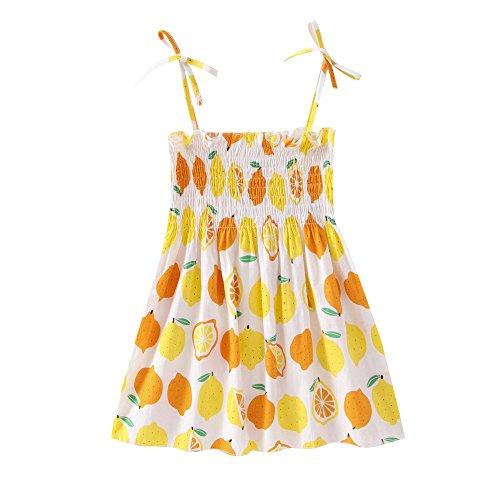 Baby Girls' It's My Birthday Print Shirt Tutu Skirt Dress Outfit Set Yellow by Karoleda_Baby Girls Clothes (Image #2)
