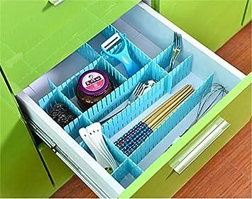 auch corredizo con cajones Organizador Gray plástico Junta Platos sorterset para bridas de sujetador de ropa/ropa interior//calcetines/Tiras de (8 ...