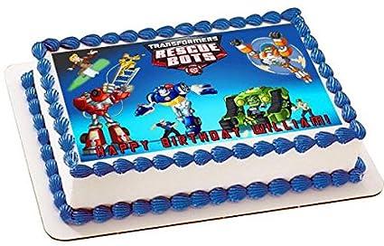 Amazon Transformers Rescue Bots Edible Cake Topper Sugar Sheet