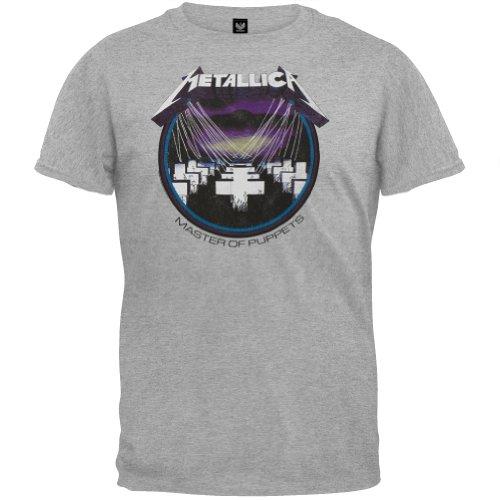 Metallica - Mens Retro Master T-shirt Medium (Indie Retro Old Shirt)
