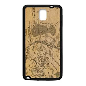 nazi diy Brown Map Fashion Comstom Plastic case cover For Samsung Galaxy Note3