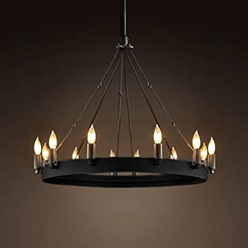 rustic chandeliers wrought iron. Ladiqi Wrought Iron Chandelier Ceiling Light Industrial Vintage  Lighting Rustic