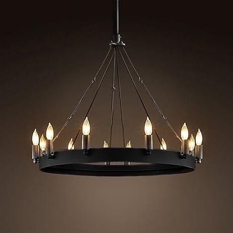 Ladiqi Wrought Iron Chandelier Ceiling Light Industrial Vintage ...