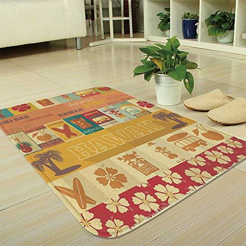 YOLIYANA Custom Carpet,Tiki Bar Decor,for Children Bedroom Corridor,35.43