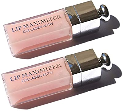 Dior Addict Lip Maximizer High Volume Lip Plumper Travel Size x 2 (.06 oz/ 2 mL each)
