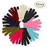 Wholesale Adult Kids Magic Knit Gloves 12 Pair (Assorted)