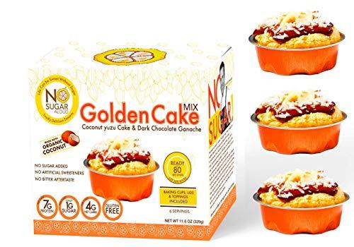 No Sugar Aloud, Golden Cake Mix (No sugar added, gluten free, no milk, egg free, keto, Vegan, Diabetic friendly) 11.6 0Z (Makes 6 cups)