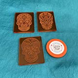 Sugar Skulls Deco Disc Stamps Texture Polymer