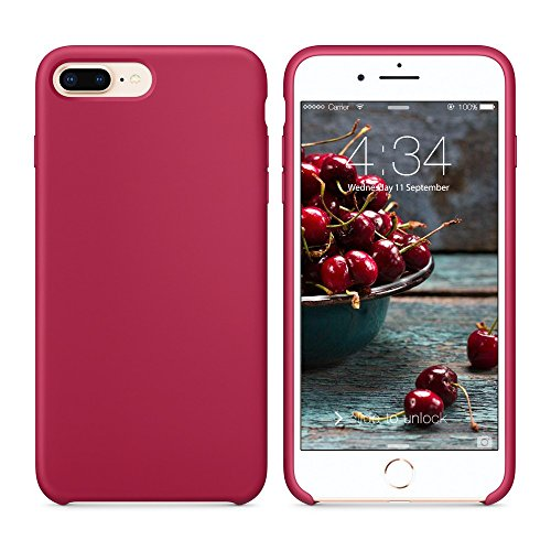 Red Roses Iphone - iPhone 8 Plus Case, iPhone 7 Plus Silicone Case,SURPHY Liquid Silicone Slim Rubber Shockproof Protective Phone Case Cover with Microfiber Lining for Apple iPhone 8 Plus iPhone 7 Plus 5.5