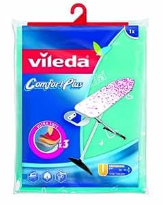 Vileda Comfort Plus 125899 - Funda para tabla de planchar, talla universal, 130 x 45 cm, color surtido
