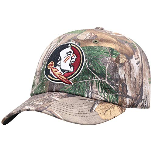 Top of the World NCAA Men's Real Tree Camo Adjustable Icon Hat, Florida State Seminoles