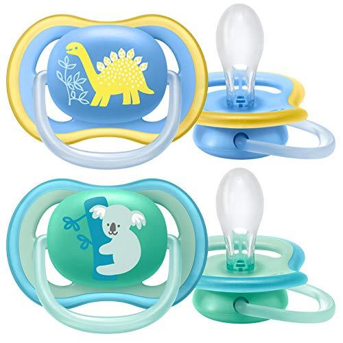 Philips Avent Fopspeen Ultra Air – 18M+ – 2 Stuks – Voor babys met een gevoelige huid – Orthodontisch – Extra stevige…
