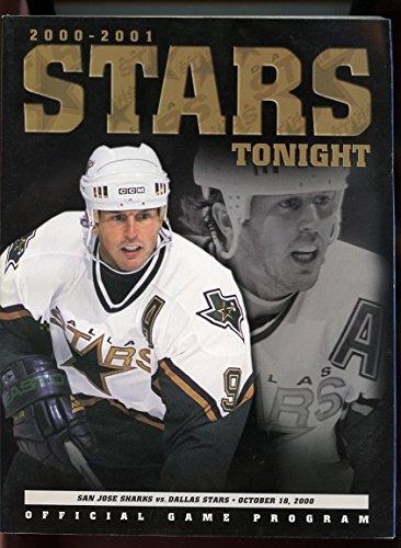 NHL Dallas Stars vs San Jose Sharks 2000 Souvenir Game Program GOOD ()