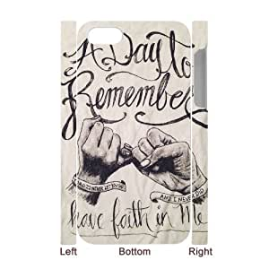 Iphone 4,4S 3D Customized Phone Back Case with A Day to Remember Image