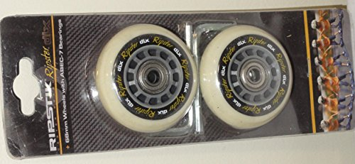 Razor Mini Ripstik RIPSTER DLX Replacement Wheel Set, Gray 68mm with ABEC-7 Bearings