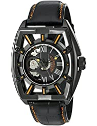 Stuhrling Original Mens 279.335557 Xtreme Millennia Expo Automatic Self-Wind Ion-Plated Skeleton Watch with Black...