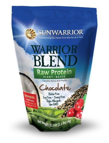 Dim. Guerrier mélange brut à base de plantes Poudre de protéine complète chocolat ~ ~ 2,2 kg Sac