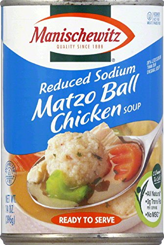 Manischewitz All Natural Reduced Sodium Matzo Ball Chicken Soup, 14 Ounce -- 12 per case. by Manischewitz