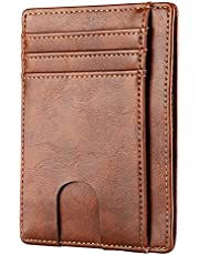 Apsung Slim Minimalist Front Pocket RFID Blocking Leather Wallets for Men Women