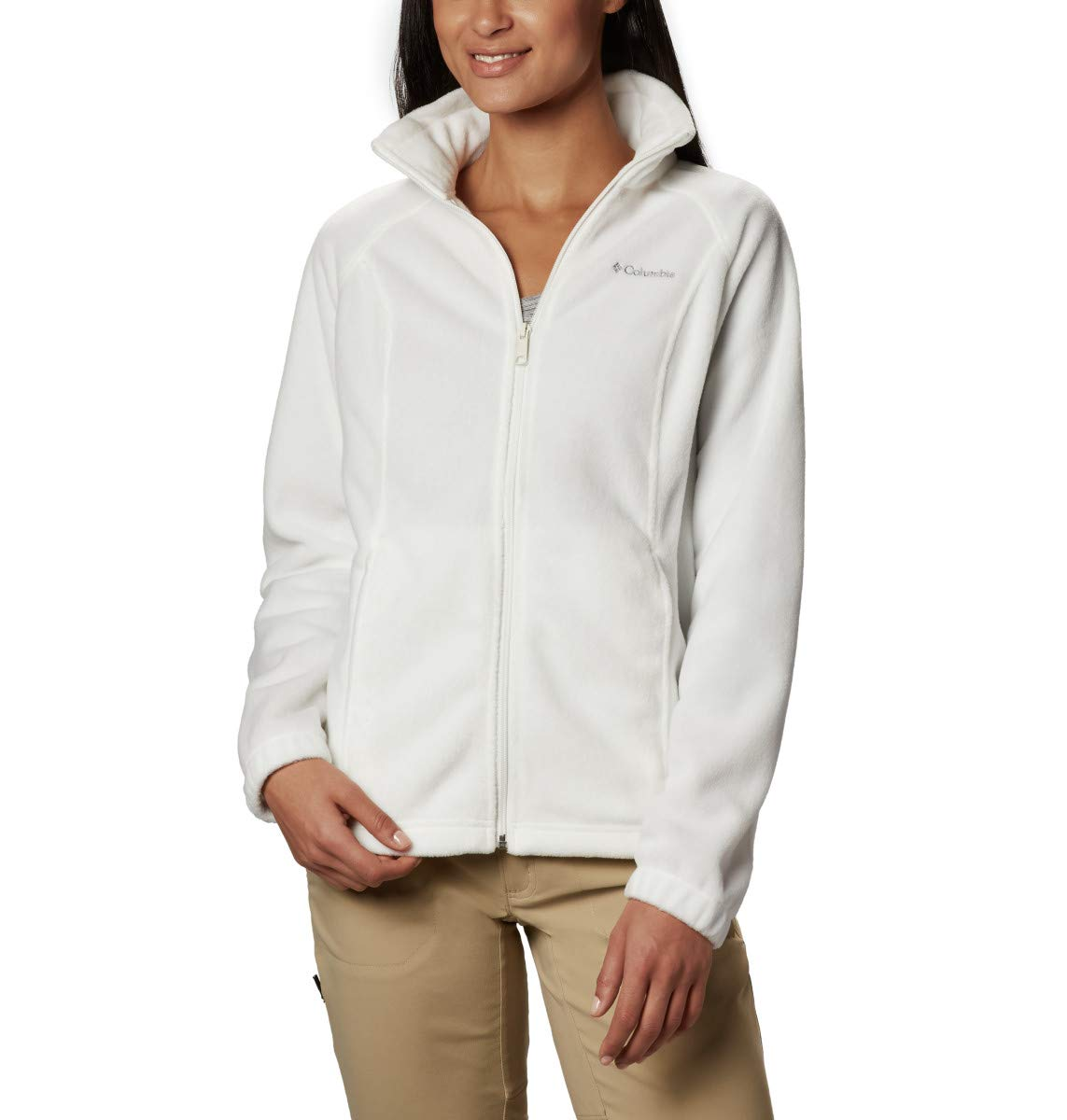 Columbia Women's Benton Springs Full Zip Jacket, Soft Fleece with Classic Fit, Sea Salt, SM by Columbia