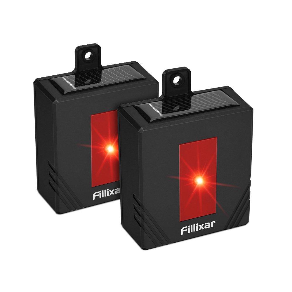 Fillixar Solar Powered Predator Eyes - Coyote Deterrent Predator Lights, Skunk Repellent, Solar Predator Control, Racoon Repellents 2 Packs