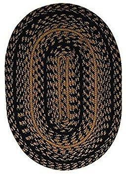 CWI Gifts Braided Ebony Placemat, 13 x 19 - Set of 4 Ebony Set