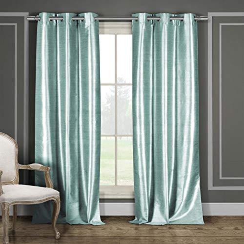 Duck River Textiles Bali Faux Silk Grommet Top Window Curtain 2 Panel Drape, 38
