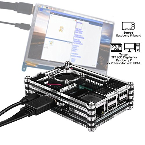 Smraza Case for Raspberry Pi 3 B+ with Fan Cooling and Heatsinks, 5V/2.5A Power Supply with On/Off Switch, Case for Pi 3B+ 3 Model B Plus by Smraza (Image #5)