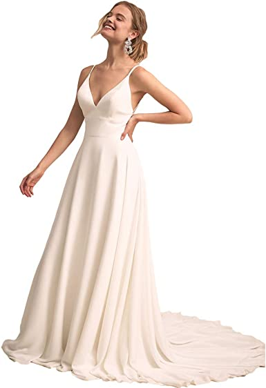 LiBridal Womens Long Sleeve Lace Bridal Wedding Dresses Beach Bridesmaid Maxi Gowns 2018