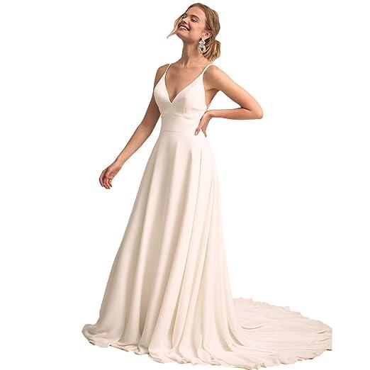 d07662695d LiBridal Women s V Neck Lace Appliques Wedding Dresses