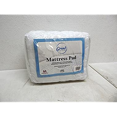 Mattress Pad Cover - Fitted - Quilted - King (78x80 ) - Stretches to 18  Deep!