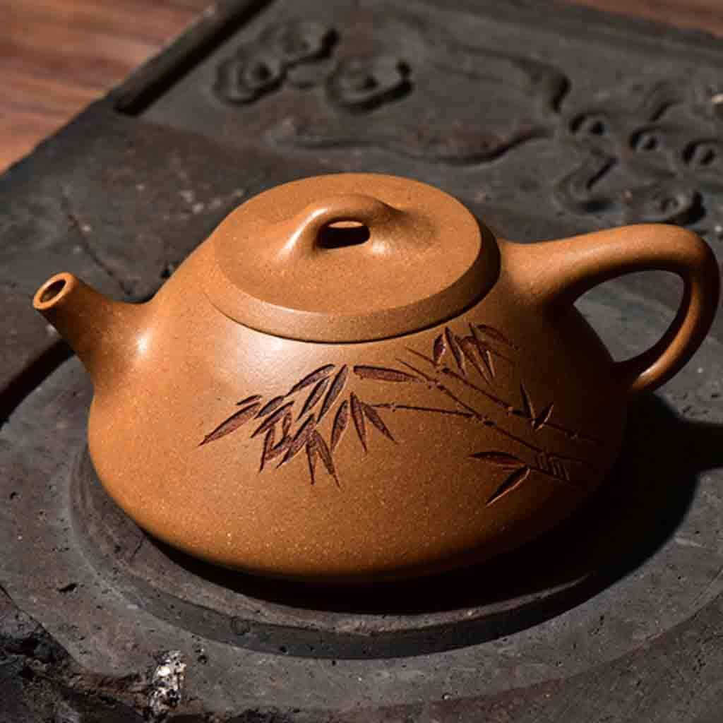 Tea Cozies Zisha Pot Pure Hand-Made Section mud Stone Scoop Xi Shi Antique Household Kung Fu teapot Tea Set (Color : Brown, Size : 16.76.87.8cm) by Tea Cozies (Image #3)
