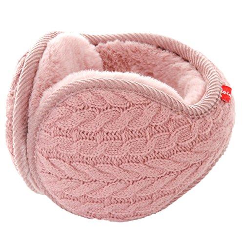 (Unisex Winter Earmuffs Knit Ear Warmers for Women Foldable)