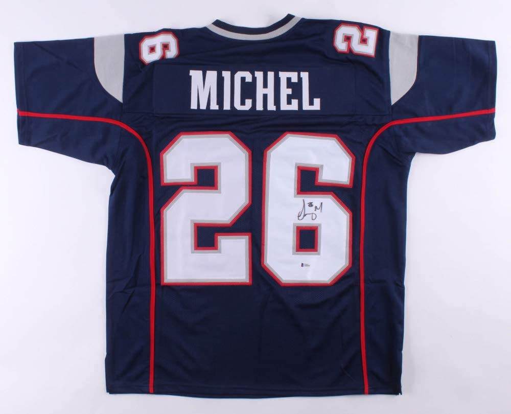 Sony Michel #26 Signed Jersey (Beckett COA) New England Patriots ...