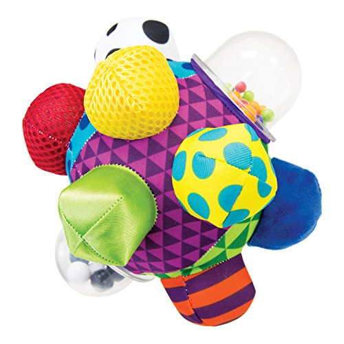 Sassy Developmental Bumpy Ball 6+ Months With Bright Colors, Bold Patterns, and Easy To Grasp Bumps To Help Developing Baby's Motor Skills
