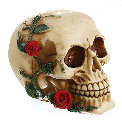 VT BigHome Halloween Decoration Resin Crafts Dinosaur Tooth Scary Skull Fossil Teaching Skeleton Model Flowerpot Halloween Home Decor