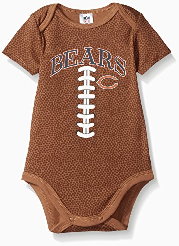 (NFL Chicago Bears Unisex-Baby Short-Sleeve Bodysuit, Brown, 0-3 Months)