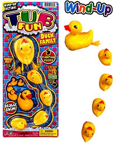 2GoodShop Bathtub Wind-Up Ducks Bath Toys Duck Family | Item - Up Duck Wind