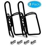 Aduro Bike Water Bottle Holder Aluminum Cage, [2X Pack] Bicycle Water Bottle Mount Lightweight for Cycling Fits Any Bike with Easy Installation