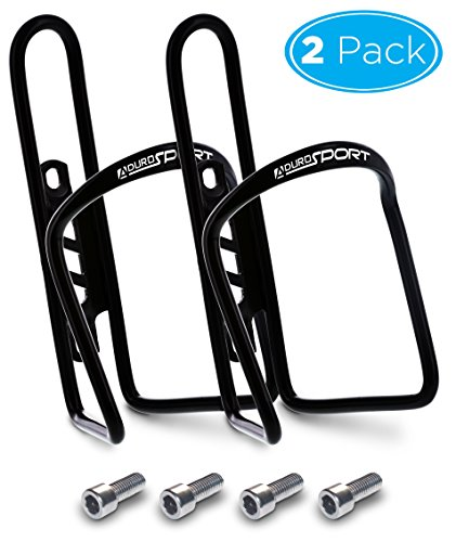 Aduro Sport Bike Water Bottle Holder Aluminum Cage, [2X Pack] Bicycle Water Bottle Mount Lightweight for Cycling Fits Any Bike with Easy Installation