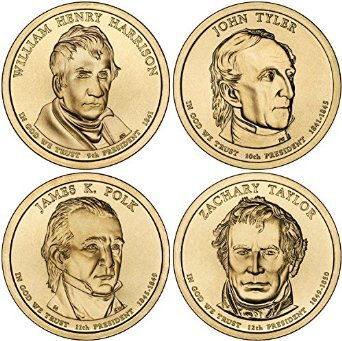 2009 D Presidential Dollar 2009 D Complete Set of all 4 Presidential Dollars Uncirculated Uncirculated