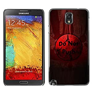 GagaDesign Phone Accessories: Hard Case Cover for Samsung Galaxy Note 3 - Do Not Push Button