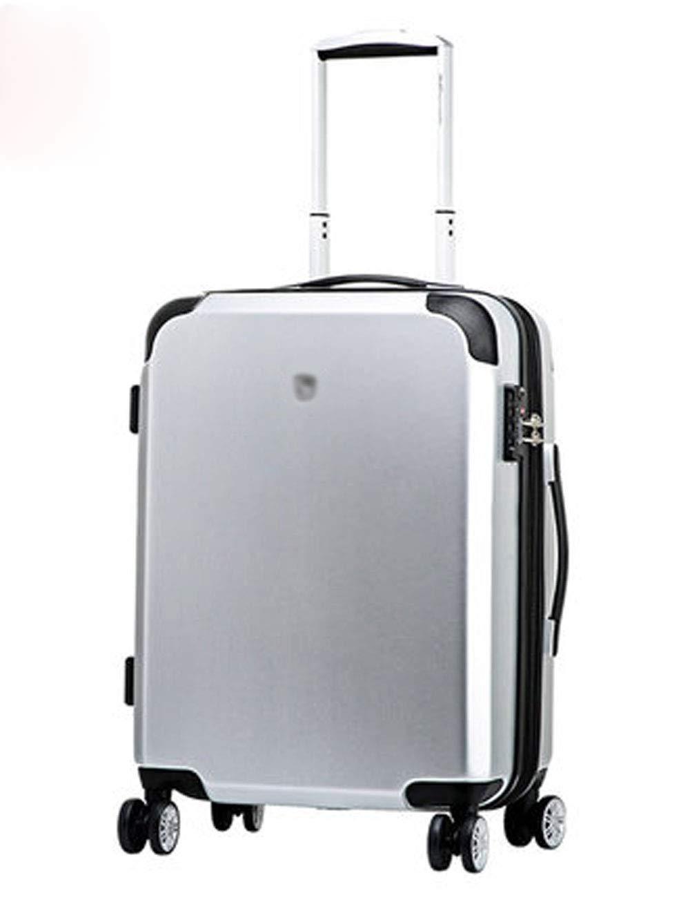 超軽量ビジネスABS + PCスーツケース、ローラーデザイン、プルロッド搭乗、20インチシルバー (色 : シルバー しるば゜)   B07GGTS22G
